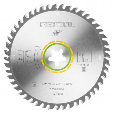 Festool Feinzahn-Sägeblatt 190x2,4 FF W48 - 492050