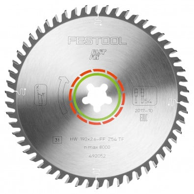 Festool Spezial-Sägeblatt 190x2,6 FF TF54