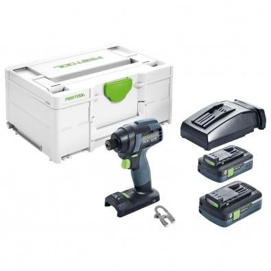 Festool Akku-Schlagschrauber TID 18 HPC 4,0 I-Plus 18 V / 2x 4,0 Ah Akku + Ladegerät in Systainer - 576482