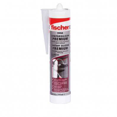 Fischer 1x Sanitärsilicon 310 ml DSSA TP transparent - 053100
