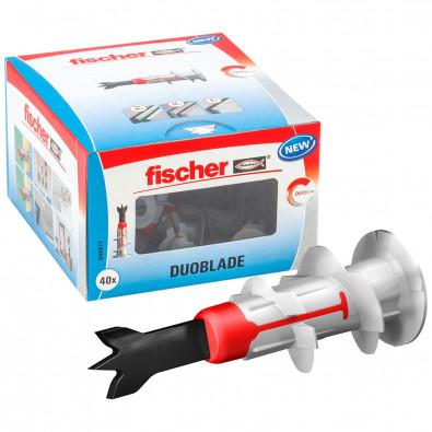 Fischer 40x Gipskartondübel DUOBLADE - 545677