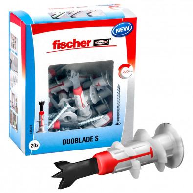 Fischer 20x Gipskartonplatten-Dübel DUOBLADE S inkl. 20x Spanplattenschraube 4,5 x 40 mm - 545678