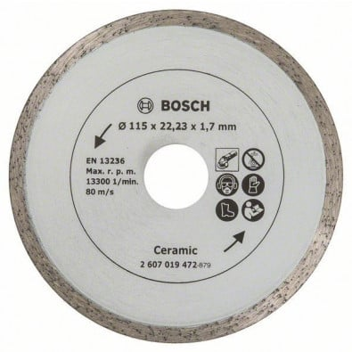 Bosch Diamanttrennscheibe für Fliesen, Durchmesser: 115 mm - 2607019472