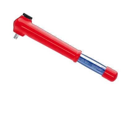 Knipex 1x Drehmomentschlüssel, isoliert mit Außenvierkant, umsteckbar - 983350