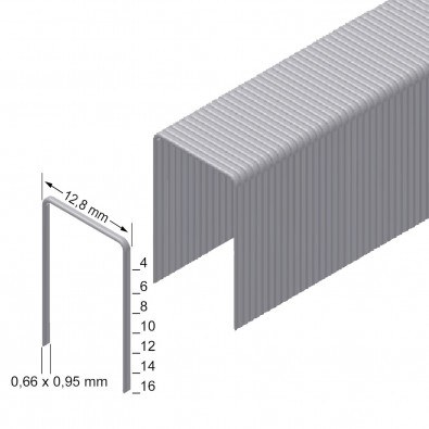 Prebena Heftklammern Type A, verzinkt, 6mm  - A06CNK