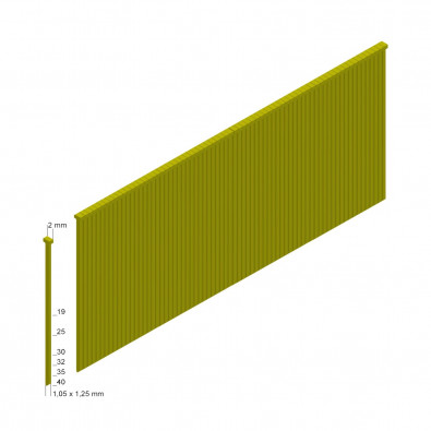 Prebena Stauchkopfnägel (Brads) Type J, 19mm  - J19CNKHA