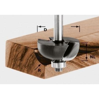Festool Hohlkehlfräser HW Schaft 8 mm HW S8 D25,5/R6,35 KL