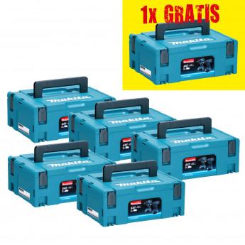 Makita MAKPAC Systemkoffer Gr. 2 (5er Set) + 1x GRATIS
