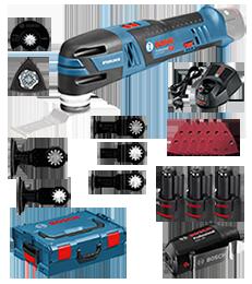 Bosch Akku-Multi-Cutter GOP 12V-28 Professional 2x 2,5 Ah Akku + 1x 2,0 Ah Akku + Ladegerät + USB-Adapter in der L-BOXX ehem. GOP 10,8 V