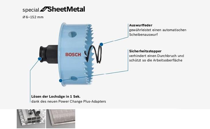Bosch HSS-Bi-Metall Lochsäge PC 59 mm ++NEU+++